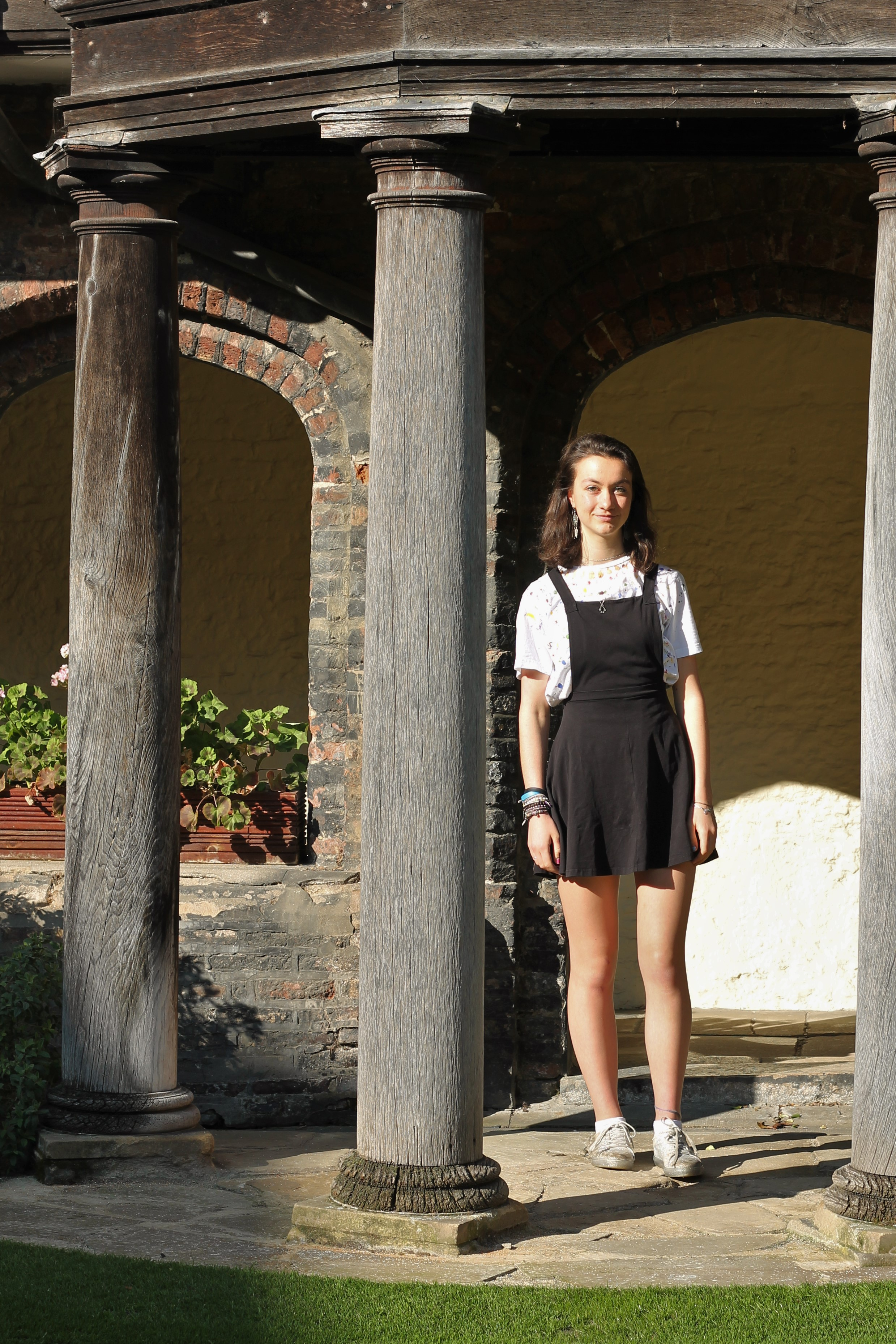 e14fd117fd6 Anna - MML (German and Russian) - wearing an Asos pinafore dress and shoes