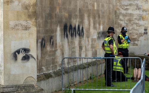 'Kill the bill': Londoners protest policing of Everard vigil