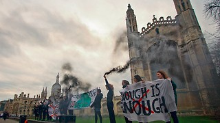 Protestors seek to clear the air around divestment