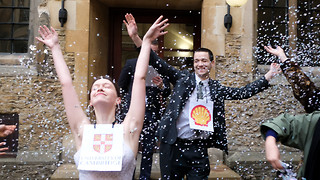 Zero Carbon mock wedding protests University ties to Shell