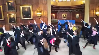 Striking Cambridge dons dance for their pensions in flash mob video