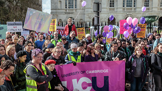 Striking staff see new hope of maintaining pensions benefits