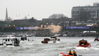 Oxbridge students protest fossil fuel investments with boat races banner drop