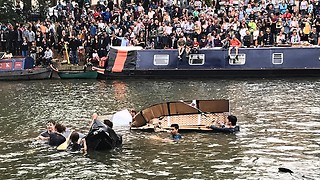 All at sea: every crew sinks at the Cambridge cardboard boat race