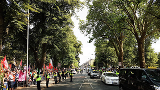 Far-right Tommy Robinson march met with anti-fascism protest