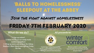 Cambridge United Say 'Balls to Homelessness'