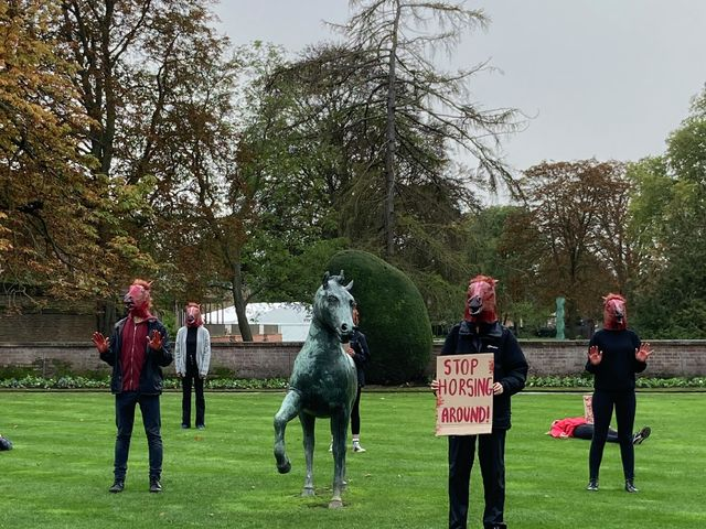 Jesus College students and fellows hold demonstration urging for full divestment by 2022